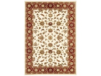 LivingStyles Sydney Classic Turkish Made Oriental Rug, 290x200cm, Ivory / Red