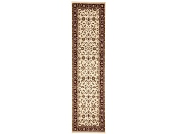 LivingStyles Sydney Classic Turkish Made Oriental Runner Rug, 300x80cm, Ivory / Red