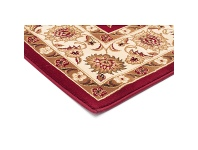LivingStyles Sydney Classic Turkish Made Oriental Rug, 150x80cm, Red / Ivory