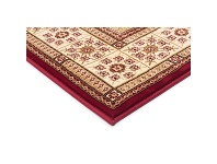 LivingStyles Sydney Traditional Tile Turkish Made Oriental Rug, 150x80cm, Red / Ivory
