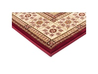 LivingStyles Sydney Traditional Tile Turkish Made Oriental Rug, 230x160cm, Red / Ivory