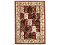 LivingStyles Sydney Traditional Tile Turkish Made Oriental Rug, 290x200cm, Red / Ivory