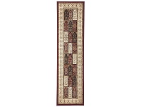 LivingStyles Sydney Traditional Tile Turkish Made Oriental Runner Rug, 400x80cm, Red / Ivory