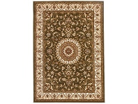 LivingStyles Sydney Medallion Turkish Made Oriental Rug, 150x80cm, Green / Ivory