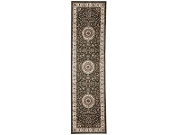 LivingStyles Sydney Medallion Turkish Made Oriental Runner Rug, 300x80cm, Green / Ivory