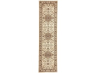 LivingStyles Sydney Medallion Turkish Made Oriental Runner Rug, 400x80cm, Ivory