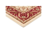 LivingStyles Sydney Medallion Turkish Made Oriental Rug, 170x120cm, Ivory / Red