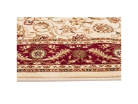 LivingStyles Sydney Medallion Turkish Made Oriental Rug, 330x240cm, Ivory / Red