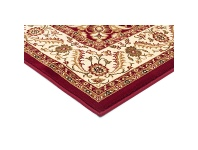 LivingStyles Sydney Medallion Turkish Made Oriental Rug, 400x300cm, Red / Ivory