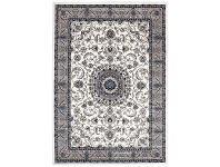 LivingStyles Sydney Medallion Turkish Made Oriental Rug, 230x160cm, White / Beige