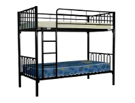 LivingStyles Sydney Metal Single Bunk Bed - Black