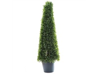 LivingStyles Artificial Boxwood Mini Topiary in Pot, 90cm
