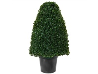 LivingStyles Artificial Tea-Leaf Topiary in Pot