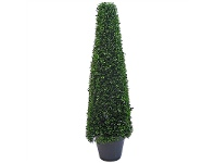 LivingStyles Artificial Boxwood Topiary in Pot