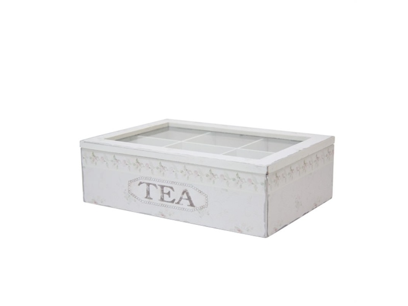 Wooden Tea Box in Green - Large