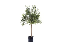 LivingStyles Artificial Olive Greeb Topping Tree