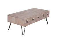 LivingStyles Crosby Reclaimed Pine Timber Coffee Table, 120cm
