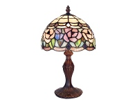 LivingStyles Chandell Tiffany Style Stained Glass Table Lamp, Extra Small