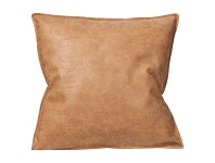 LivingStyles Rover PU Leather Scatter Cushion, 45cm, Tan