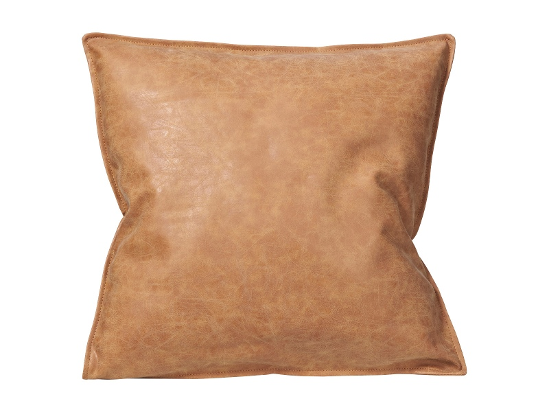 Rover PU Leather Scatter Cushion, 45cm, Tan