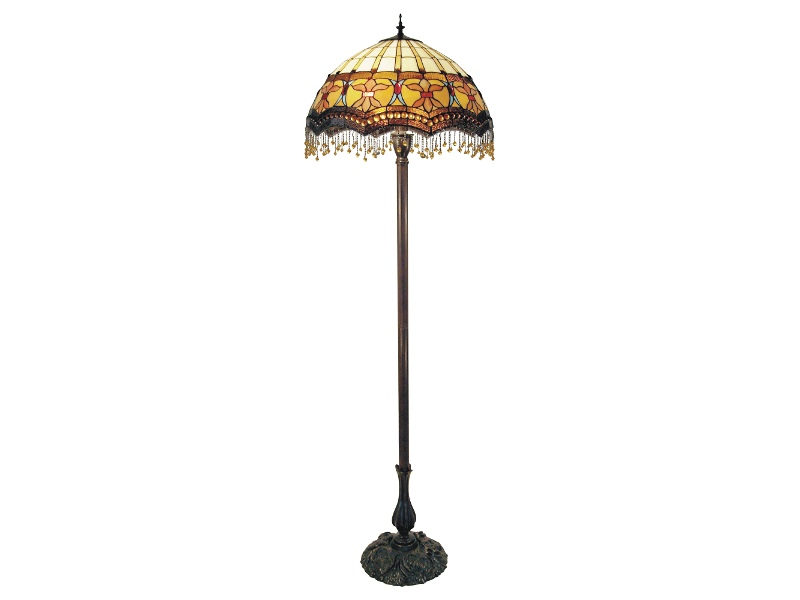 Madonna Tiffany Style Stained Glass Floor Lamp