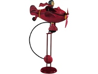 LivingStyles Authentic Models Hand Crafted Metal Skyhook Balance Toy, Red Baron 1917