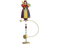 LivingStyles Authentic Models Hand Crafted Metal Skyhook Balance Toy, Queen
