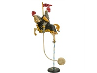 LivingStyles Authentic Models Hand Crafted Metal Skyhook Balance Toy, Knight II
