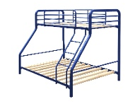 LivingStyles Tubeco Trio MKII Australian Made Metal Bunk Bed, Space Blue
