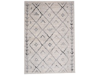 LivingStyles Trend Diamond Semi Shag Rug, 230x160cm, Cream