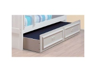 LivingStyles Teenage Trundle with Moulded Handles in Arctic White - Single Size