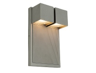 LivingStyles Tucson IP44 Exterior LED Wall Light, Pewter