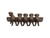 LivingStyles Five Puppies Iron Wall Hook Rack