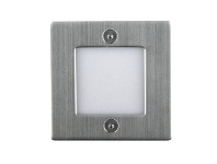 LivingStyles Bing Recessed 3000K LED Wall Light - Stainless Steel (Oriel Lighting)