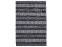 LivingStyles Urban Gypsy Flat Woven Wool and Jute Rug, 225x155cm, Navy