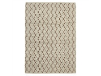 LivingStyles Urban Luxury Madras Hand Woven Felted Wool Rug, 225x155cm, Copper/Ivory
