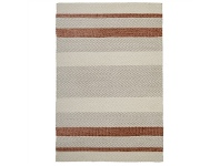 LivingStyles Urban Norse Flat Woven Cotton and Wool Rug, 225x155cm, Copper