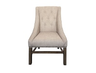LivingStyles Blaxcell Fabric Dining Chair, Beige
