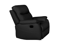 LivingStyles Colson Leather Recliner Lounge Armchair, Black