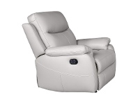 LivingStyles Colson Leather Recliner Lounge Armchair, Mist