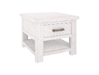 LivingStyles Viborg Mountain Ash Timber Side Table