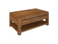 LivingStyles Ashton Mountain Ash Timber 2 Drawer Coffee Table
