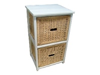 LivingStyles Umina 2 Cane Drawer Mango Wood Cabinet