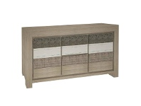 LivingStyles Lafite Acacia Timber 2 Door 2 Drawer Buffet Table, 173cm