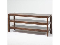 LivingStyles Braque Solid Rubberwood Timber 130cm Lowline TV Stand - Light Honey