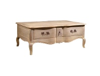 LivingStyles Caratel Birch Timber Coffee Table, 122cm