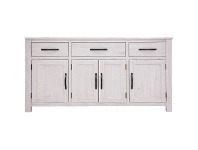 LivingStyles Lakeland Mountain Ash Timber 4 Door 3 Drawer Buffet Table, 158cm