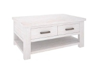 LivingStyles Viborg Solid Mountain Ash Timber 2 Drawer 120cm Coffee Table