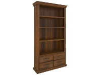 LivingStyles Mulford Solid Pine Timber Bookcase