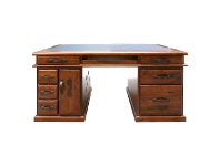 LivingStyles Mulford Solid Pine Timber Exclusive Desk, 165cm
